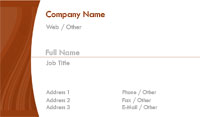 White and Dark Orange Business Card Template